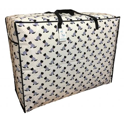 EXTRA Large 115 litre Storage bag. White scotty dog pattern.